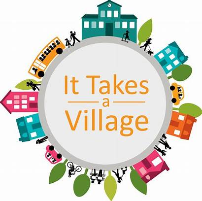 Village Takes Child Clipart Neighborhood Network Clip