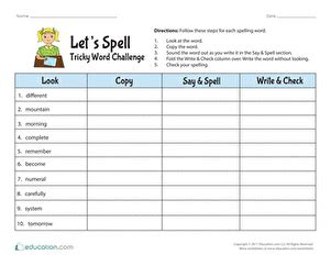 4th grade spelling worksheets free printables education