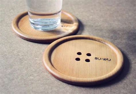 winning kitchen button shaped wooden coasters wooden drink coaster