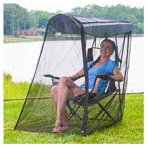 kelsyus go with me chair brownblue kelsyus folding canopy chair w bug guard insect screen
