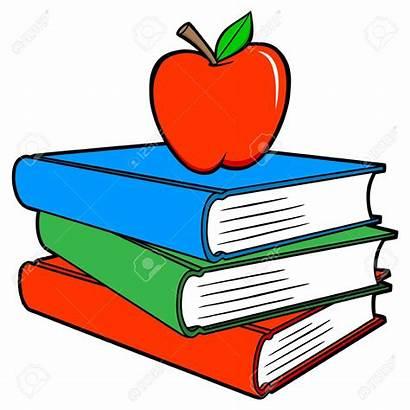 Books Cartoon Apple Vector Illustration Sued Few