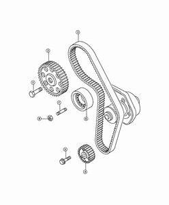 2013 Fiat 500x Tensioner  Timing Belt  System  Eaf