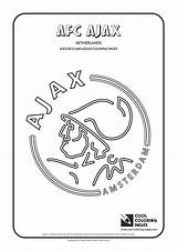 Coloring Pages Ajax Logos Soccer Cool Afc Clubs Amsterdam Football Colouring United Teams Activities Educational Fc Ham West Milan Kleurplaten sketch template