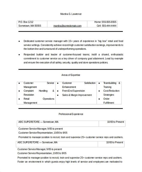 Resume Objectives For Customer Service by Sle Customer Service Objective 8 Exles In Pdf Word