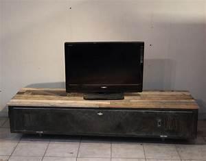 Meuble Fait Maison : meuble tv industriel vs2 sur commande meubles par ~ Voncanada.com Idées de Décoration
