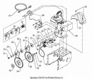 Mtd 317e633e190 Snow Boss 750  1997  Parts Diagram For Belts And Pulleys