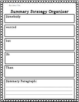 summary strategy organizer for k 12 junior classroom