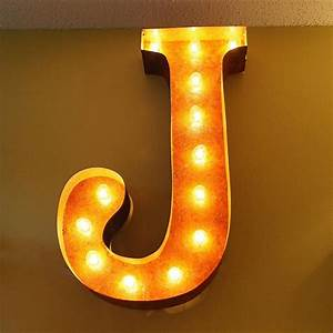 24 letter j lighted vintage marquee letters rustic With bulbs for marquee letters