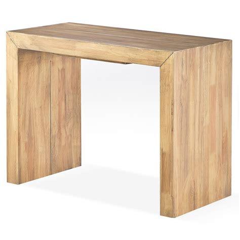 bureau 40 cm profondeur console extensible bois massif capuccino 50 à 250 cm 12