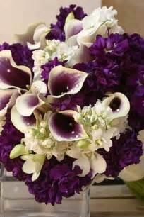 Blue and Purple Wedding Flowers Bouquet