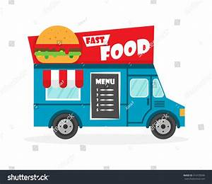 Street Food Truck Vector Illustration Food Vectores En ...