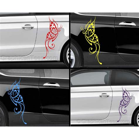 car graphics tribal butterfly car sticker custom graphic decal girly car stickers