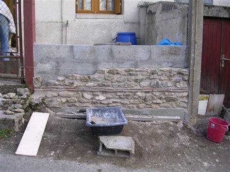 mur en ardoise exterieur ext 233 rieur c 244 t 233 route suite des travaux parement une maison 224 la cagne