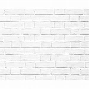 Papier Peint Pierre Blanche : papier peint briques blanche ~ Dailycaller-alerts.com Idées de Décoration