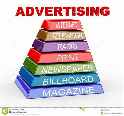 Advertising Pyramid 3d Channels Various Promotion Pr