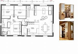 avis plan maison 101m2 23 messages page 2 With plan de dressing chambre