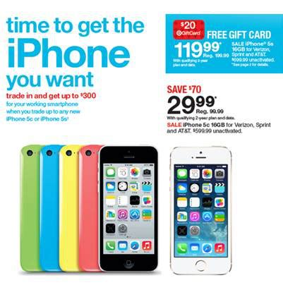 target iphone deals target iphone 5s and iphone 5c deals bgr