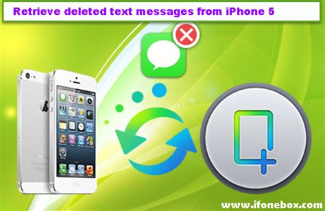 how to retrieve deleted texts on iphone 5 without backup can you retrieve deleted text messages from an iphone 5
