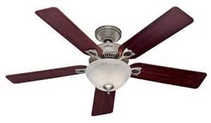 hunter dominion 2013 ceiling fan 28675 in brushed nickel