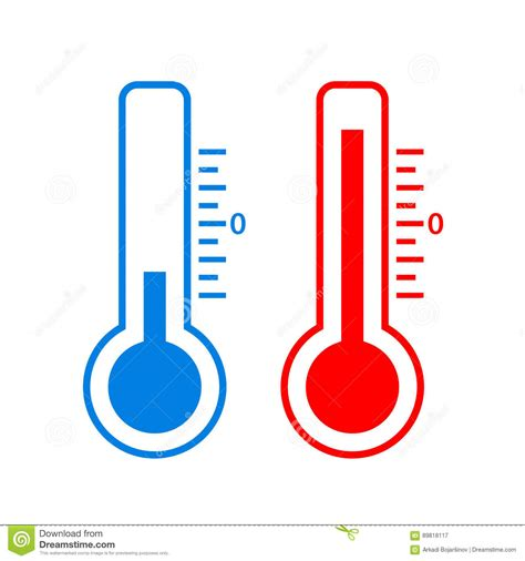 Cold And Hot Temperature Vector Icon Stock Vector ...