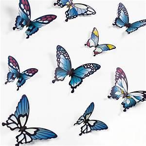 3d Schmetterlinge Wand : wandtattoo 3d schmetterlinge blaut ne ~ Whattoseeinmadrid.com Haus und Dekorationen