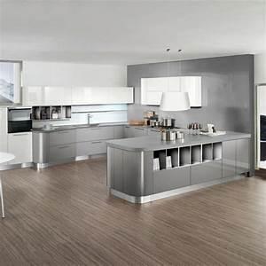 cuisine grise moderne astuces et idees deco pour la 2015 With idee deco cuisine avec cuisine moderne gris clair