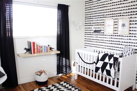 Chambre Bébé En Noir Et Blanc