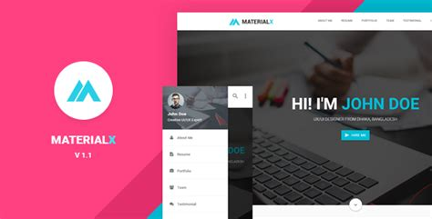 the best premium mateial website templates 30 material design html5 templates available for download