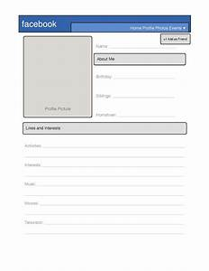 blank facebook profile template worksheet images frompo With fill in facebook template