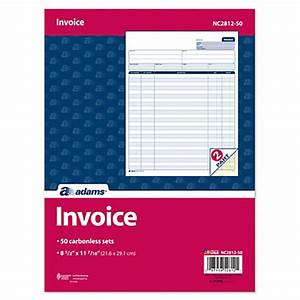 adams carbonless 2 part snapset invoice forms 8 12 x 11 With office depot custom invoices