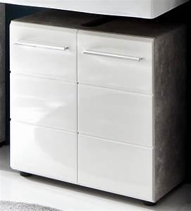 Waschbeckenunterschrank Hochglanz Weiß : waschbeckenunterschrank nano wei hochglanz und grau ~ A.2002-acura-tl-radio.info Haus und Dekorationen