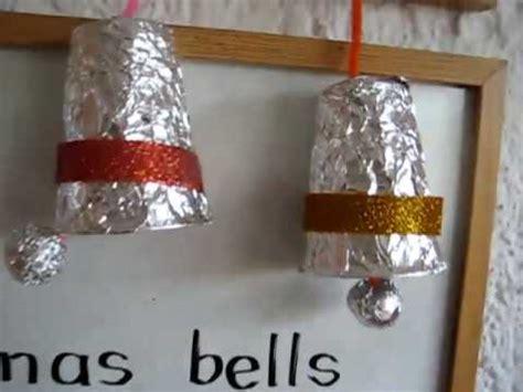 christmas arts crafts bells  paper cups foil