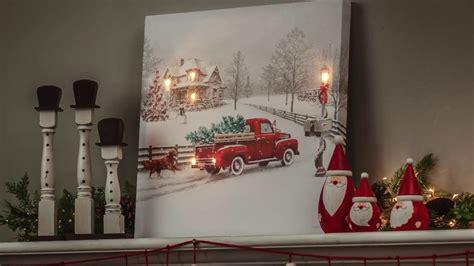 vintage truck led light  canvas wall art ltc