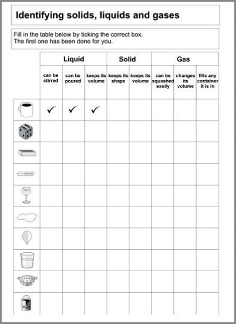 identifying states of gas matter worksheet 1000 images about states of matter unit on