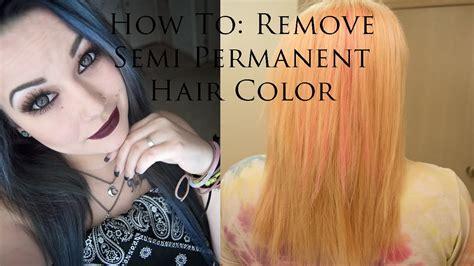 remove semi permanent hair color bleach hair