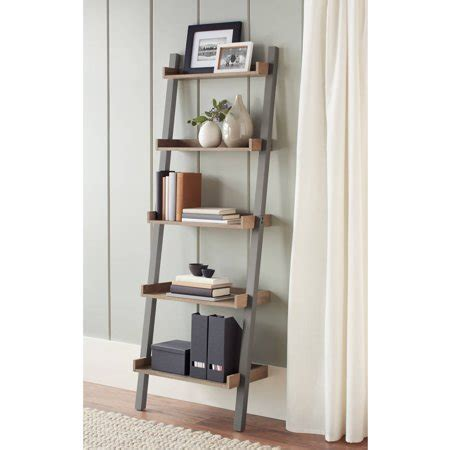Leaning Bookcase Walmart by Better Homes Gardens Bedford 5 Shelf Leaning Bookcase