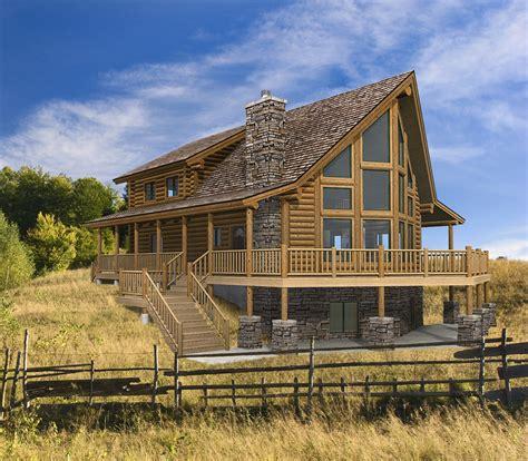 hillside cabin plans log cabin floor plans hillside yellowstone log homes