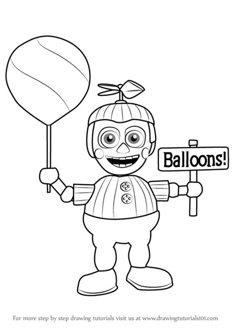 disegni da colorare animatronics five nights at freddy s coloring pages balloon boy