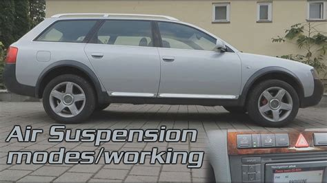 how cars engines work 2004 audi allroad navigation system 2003 audi allroad quattro 2 5 tdi c5 air suspension modes working youtube