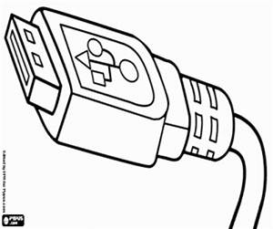 computer coloring pages printable games With wiring usb plug