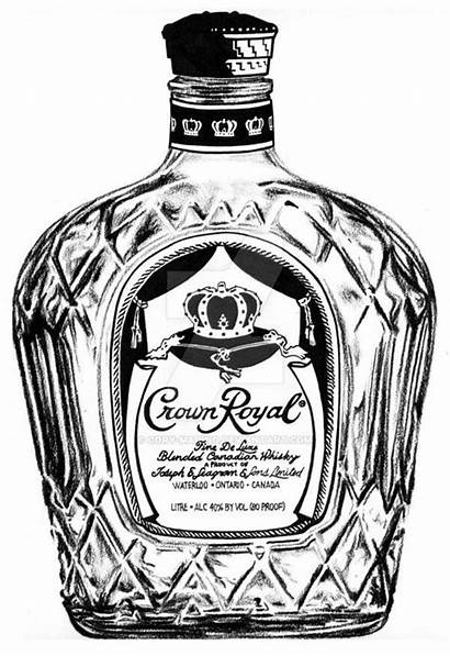 Crown Royal Drawing Bottle Whiskey Tattoo Drawings