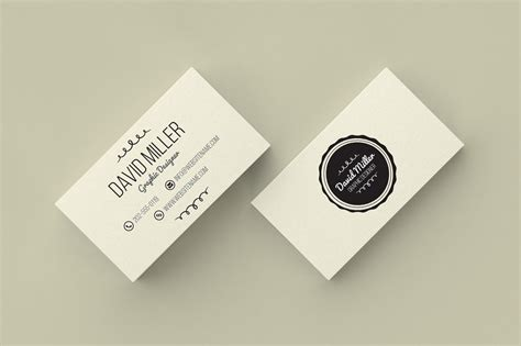 Cards Templates by Vintage Minimal Business Card Business Card Templates