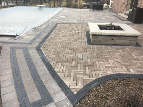 unilock ltd project spotlight new lenox paver patio and pit