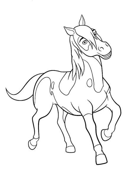 Kleurplaat Paarden Spirit by раскраска спирит скачать и распечатать