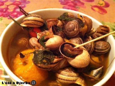 escargot cuisiné escargots tunisie cuisine
