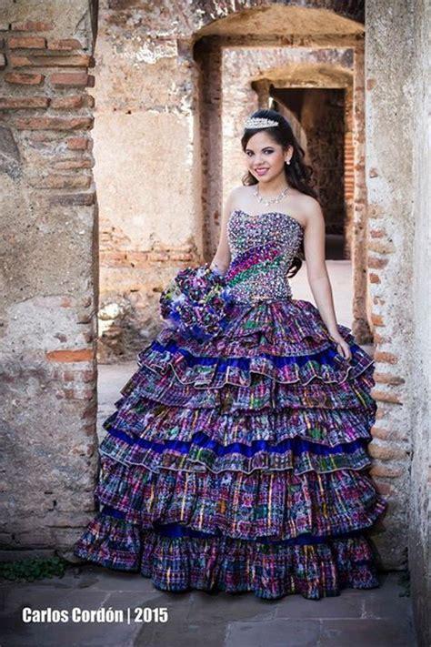 Vestidos de 15 años Textiles indígenas Guatemaltecos 15