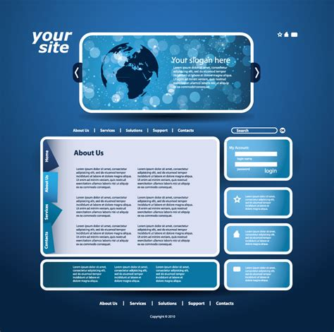 website template free vector graphic download