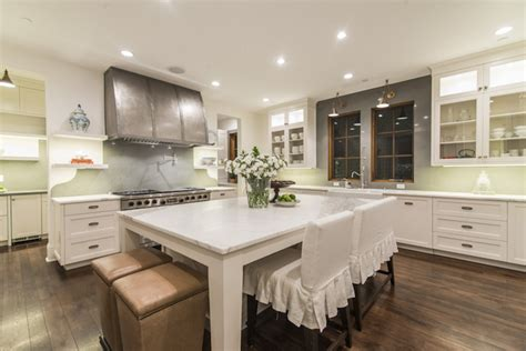 pleated bar stools transitional kitchen
