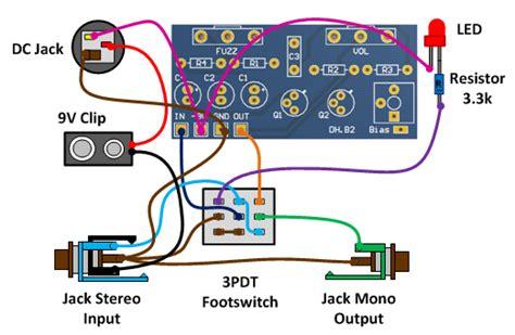 Fuzz Wiring 3pdt by Fuzz