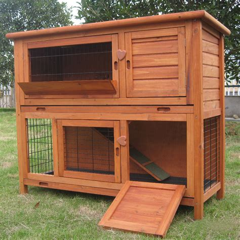 a rabbit hutch 4ft large rabbit hutch guinea pig run deluxe